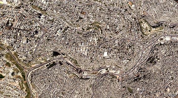 Aerial photograph of Amman, Jordan