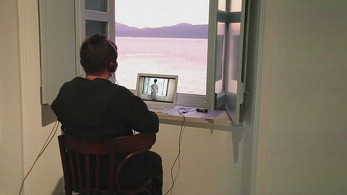 Trad IS(O)L and (Scapes) by Kom.Post, a promenade performance for one spectator, Hydra, 2011.