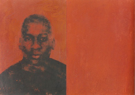 Figure 1. Glenn Ligon, Double Self-Portrait, 1994, Silkscreen ink and crayon on two sheets of paper, 9 1/2 x 13 inches (24.1 x 33 cm). Collection of Agnes Gund.