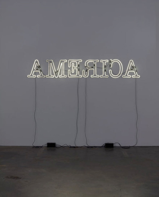 Figure 4. Glenn Ligon, Rückenfigur, 2009, Neon and paint, 24 x 145 inches (61 x 368.3 cm), Whitney Museum of American Art, New York, New York.