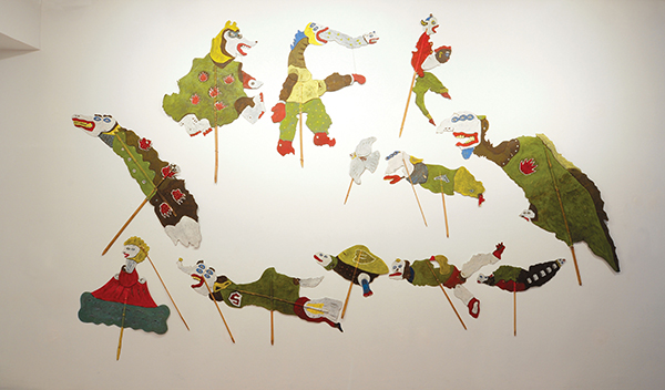 Heri Dono,  Wayang Legenda Indonesia Baru (2000). Exhibited at Negotiating Home, History, Nation.