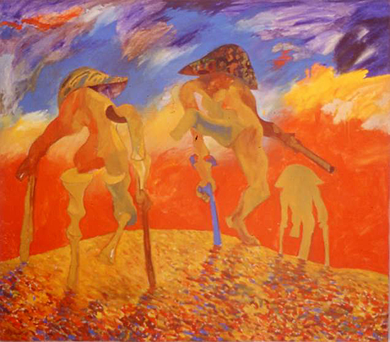Chandraguptha Thenuwara, Dance of Victory, oil on canvas, 152,5 x 173,5 cm, 1998