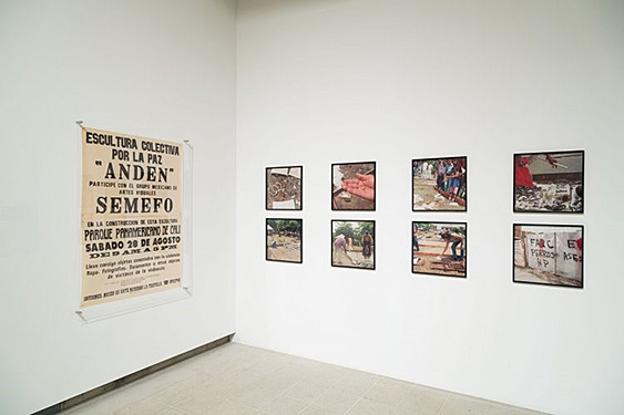 "Teresa Margolles, ""Anden (Sidewalk), Cali, Colombia, August 1999""  Installation view:  ""Invisible: Art from the Unseen, 1957-2012"", Hayward Gallery, 2012. Photo: Marc Blower. Courtesy of Galerie Peter Kilchmann"